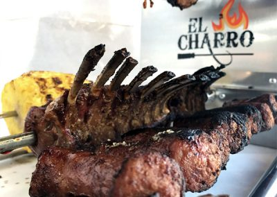 el charro  brazilian grill cooking lamb chops